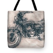 Kawasaki Triple - Kawasaki Motorcycles - 1968 - Motorcycle Poster - Automotive Art Tote Bag