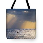 Kayak At Dawn Tote Bag