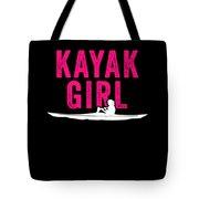 Kayak Kayak Girl Pink Gift Light Tote Bag