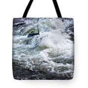 Kayak Roll Up In Pipeline Rapids 5959 Tote Bag
