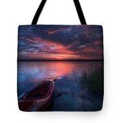 Kayak Sunrise Tote Bag