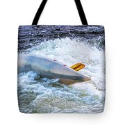 Kayaker Goes Over In Pipeline Rapids 5965ct Tote Bag