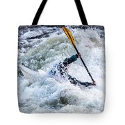 Kayaker In Action At Pipeline Rapids In James River 5956c Tote Bag