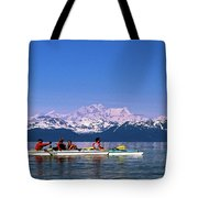 Kayakers In Alaska Tote Bag