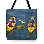 Kayakers In Bar Harbor Maine Tote Bag