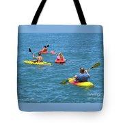 Kayaking Friends Tote Bag