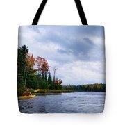 Kayaking In Autumn Tote Bag