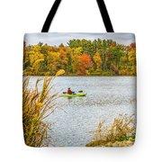 Kayaking In Fall Tote Bag