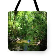 Kayaking In Tropical Paradise Tote Bag