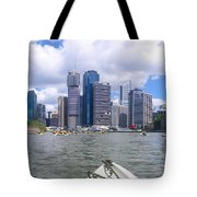 Kayaking On The Brisbane River Tote Bag