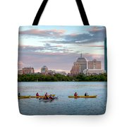 Kayaking On The Charles Tote Bag