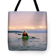 Kayaking Penn Cove Tote Bag