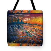 Kayaking Serenity - Bordered Tote Bag