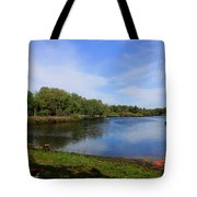 Kayaking The Cotee River Tote Bag