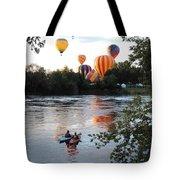 Kayaks And Balloons Tote Bag