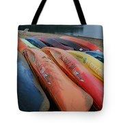 Kayaks At Rest Tote Bag