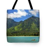 Kayaks In Hanalei Bay Tote Bag