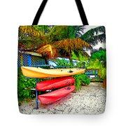 Kayaks In Paradise Tote Bag