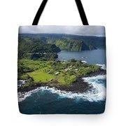 Keanae Peninsula Aerial Tote Bag