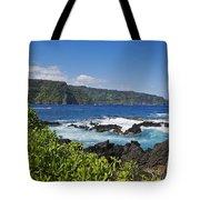 Keanae Peninsula, View Tote Bag