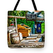 Keep Off Wet Tar It Don't Come Off Key West Florida Tote Bag