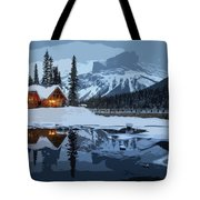 Keep The Home Fires Burning For The Weary Winter Traveler Tote Bag
