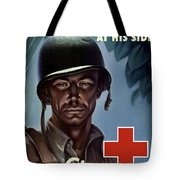 Keep Your Red Cross At His Side Tote Bag by War Is Hell Store