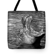 Keeper Of The Swamp - African Hippo Tote Bag