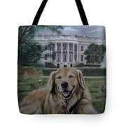 Kelli On The White House Lawn Tote Bag