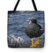 Kelp Goose With Goslings Tote Bag