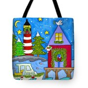 Kennebunkport Holiday Arrival Tote Bag