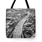 Kennedy Expressway And Chicago Skyline Tote Bag