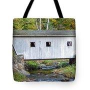 Kent Falls Bridge In Autumn Tote Bag