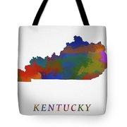 Kentucky Map Tote Bag