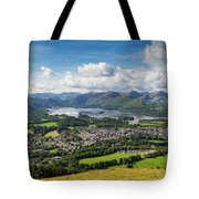 Keswick And Derwent Water View From Latrigg Tote Bag