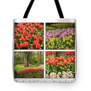 Keukenhof Garden Collage Tote Bag