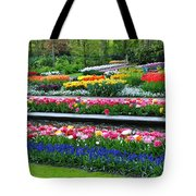 Keukenhof Tulips Ornamental Garden  Tote Bag