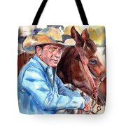 Kevin Costner Portrait Tote Bag