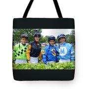 Kevin Gomez, Jomar Torres, Horacio Karamanos And Jevian Toledo - Laurel Park Tote Bag