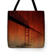 Key Bridge Artistic  In Baltimore Maryland Tote Bag by Skip Willits