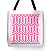 Key Maze With Border In French Pink Tote Bag