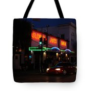 Key West By Night Tote Bag