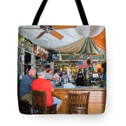 Key West Green Parrot Bar #3 Tote Bag