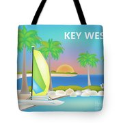 Key West Horizontal Scene Tote Bag