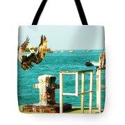 Key West Landing Tote Bag