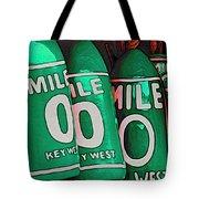 Key West Mile Zero Tote Bag
