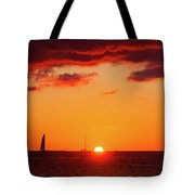 Key West Red Cloud Sunset Tote Bag