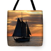 Key West Sunset Sail 6 Tote Bag