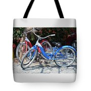 Key West Vintage Bicycles Tote Bag
