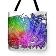 Keys To The City Cool Rainbow 3 Dimensional Tote Bag